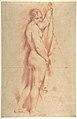 Standing Nude Female Figure (recto); Studies of a Kneeling Nude Female Figure and of a Man's Head (verso) MET DP801294.jpg
