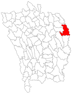Location of Stănilești