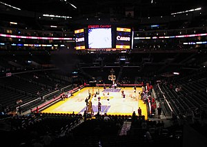 Staples Center - Staples Center during a Lakers game prior to the installation of the new scoreboard, and after the implementation of a new lighting system.