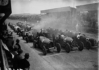 Carthage Street Circuit - Start of the 1932 Tunis Grand Prix