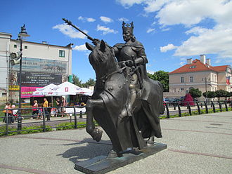 Malbork - Statue of Casimir IV Jagiellon in Malbork