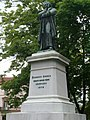 Statue of Dugonics András by Izsó Miklós, 1876 at Dugonics Square, Szeged-dugonics1.jpg