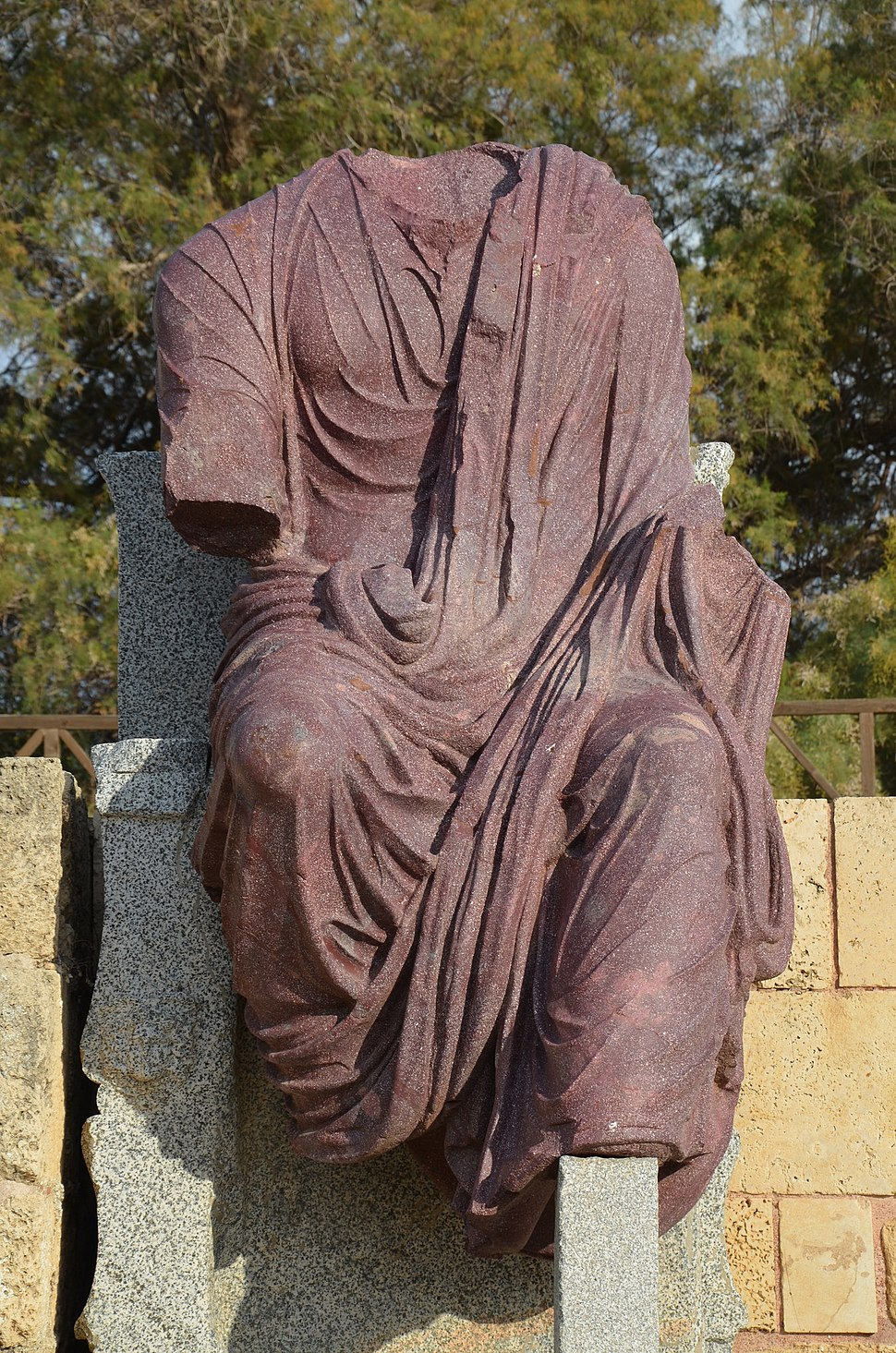 Statue of Hadrian in Caesarea