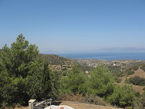 Kythira Strait - View of the Kythira Strait in the distance of southern Greece