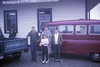 Stephenville Crossing - Stephenville Crossing railway station in 1965.