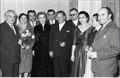 Stevan Kragujevic, Milan Bogdanovic, upravnik Narodnog pozorista, knjizevnik i knjizevni kriticar, sa ansamblom, 1955, prilikom posete Predsednika Tita pozoristu.tif