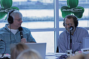 Steve Dahl - Steve and Buzz during a live remote broadcast of The Steve Dahl Show at Navy Pier on Monday, March 17, 2008
