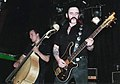 Stijepovic and Lemmy Kilmister during The Head Cat concert in Portland, in 2007. Photo by Roger Neville-Neil.jpg