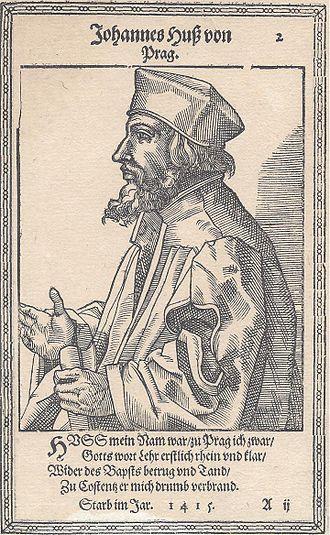 Jan Hus - Jan Hus engraving, 1587