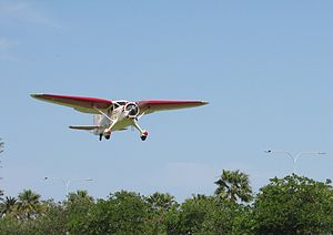 Stinson SR-8C Reliant at the SAAA Langley Park Fly-in October 2011 (2).jpg