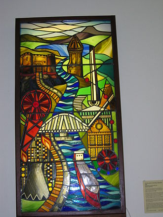 Stirling Smith Art Gallery and Museum - Stained Glass Window in Stirling Art Gallery