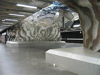 Tekniska högskolan metro station Stockholm Metro station