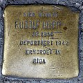 Stolperstein Badstr 64 (Gesbr) Rudolf Hopp.jpg