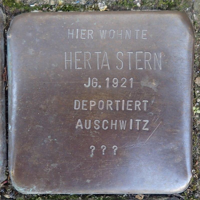 Stolperstein für Herta Stern