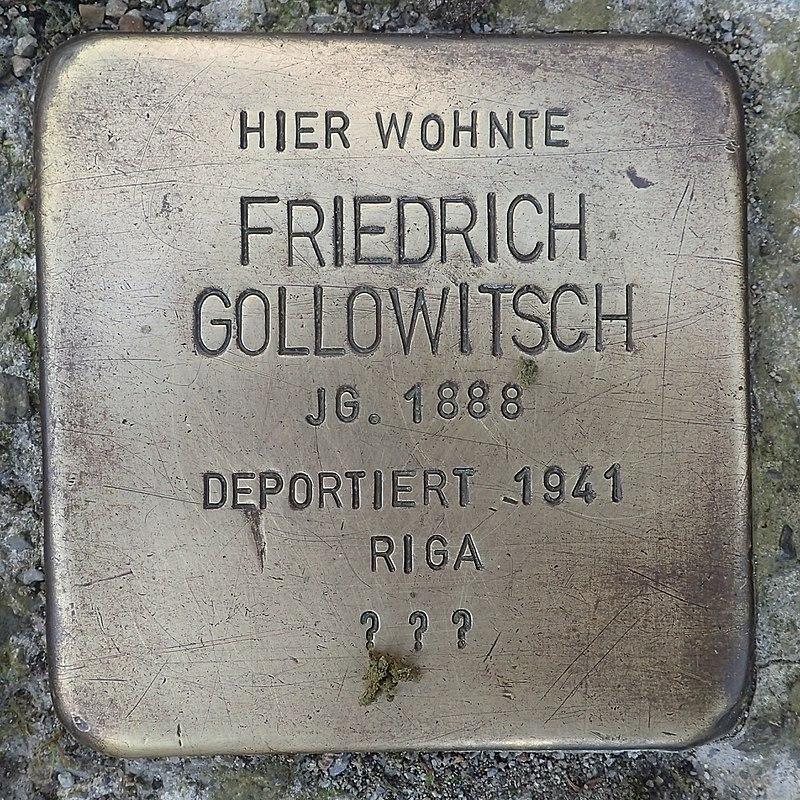 Stolperstein Leutkirch Marktstraße 27 Friedrich Gollowitsch