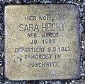 Stolperstein Schleswiger Ufer 5 (Hansa) Sara Hecht.jpg