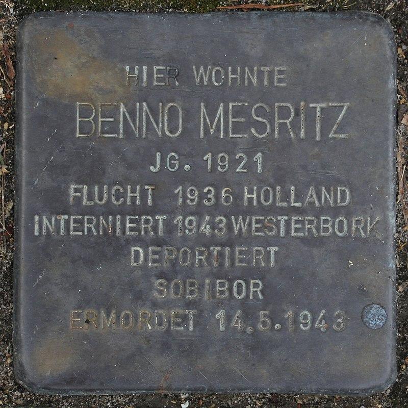 Stolperstein Wendeburg Am Betonwerk 2 Benno Mesritz.jpg