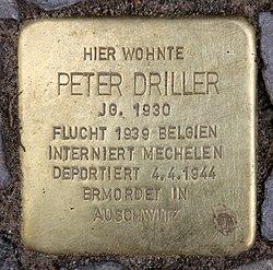 Photo of Peter Driller brass plaque