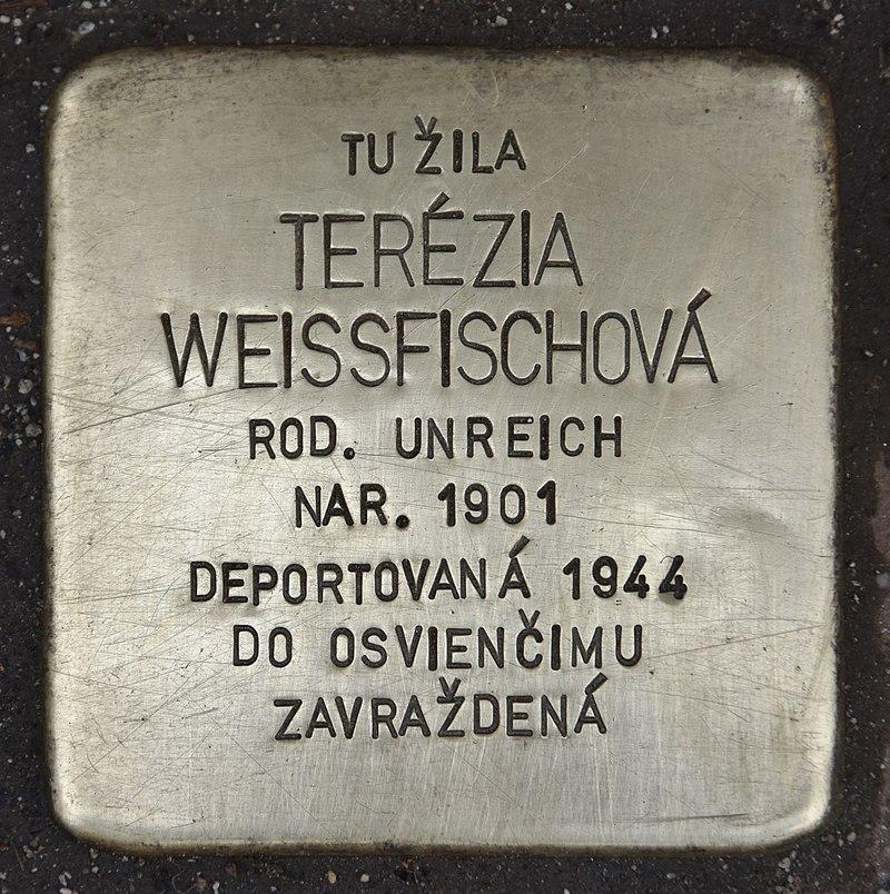 Stolperstein für Terezia Weissfischová.jpg
