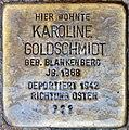 Stolpersteine Höxter, Karoline Goldschmidt (Marktstraße 27).jpg