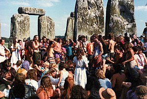 Dancing inside the stones, 1984 free festival.