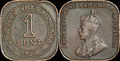 Straits Currency, One Cent Coin, 1920.png
