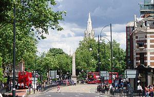 Samuel Gurney (1786–1856) - The 12.8 metre tall Gurney Memorial obelisk in Stratford Broadway