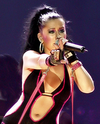 Christina Aguilera - Aguilera performing on The Stripped Tour in 2003