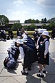 Students lined up for a school photo session at Todaiji Temple and Diabatsu, Nara, Japan; May 2012.jpg