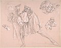 Study of a young man bending forward to kiss a hand, for the painting The Departure of the Prodigal Son (now lost) MET DP808385.jpg