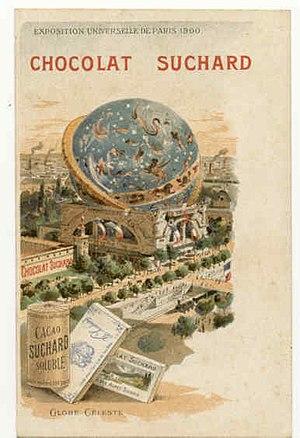 Globe Céleste - Postcard of Suchard, a Swiss brand of chocolate.