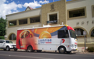 Sunrise (Australian TV program) - The Sunrise Weather Winnebago in Mildura, Victoria.