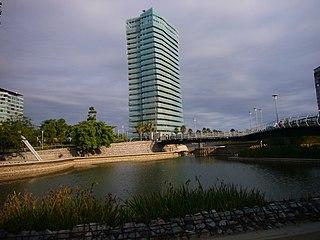 Building complex in Barcelona, Spain.