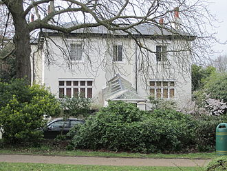 Thomas Pooley - House in The Crescent seen from Claremont Crescent Gardens. Photo: LynwoodF.