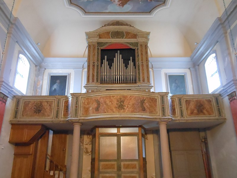 Datei:Sutrio, Chiesa di Ognissanti, Organo Beniamino Zanin.jpg