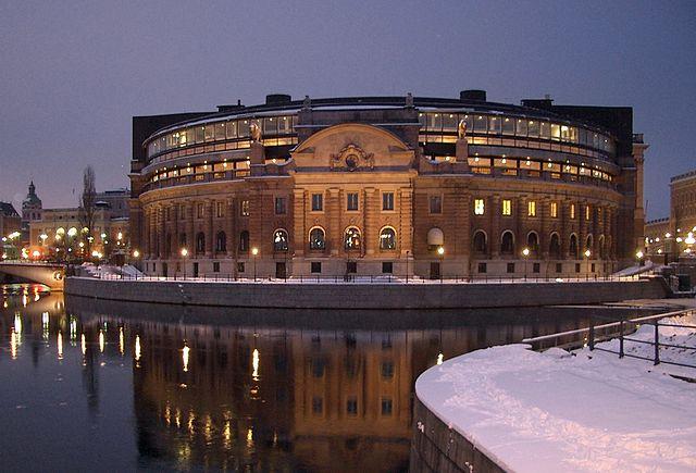Foto av riksdagshuset Christian Gidlöf