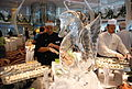 Swan Ice Sculpture and sushi -- Formal Brunch Aboard the Celebrity Equinox, 12-09-2011 (6857445779).jpg