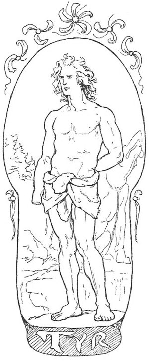 "Týr - ""Týr"" by Lorenz Frølich (1895)"