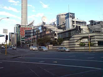 Television New Zealand - TVNZ headquarters in Auckland.