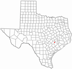 Location of Fayetteville in Texas