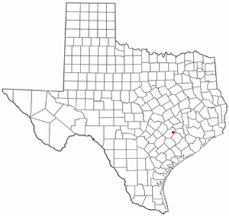 Fayetteville, Texas - Image: TX Map doton Fayetteville