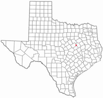 Mart, Texas - Image: TX Map doton Mart