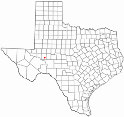 Location of Rankin, Texas