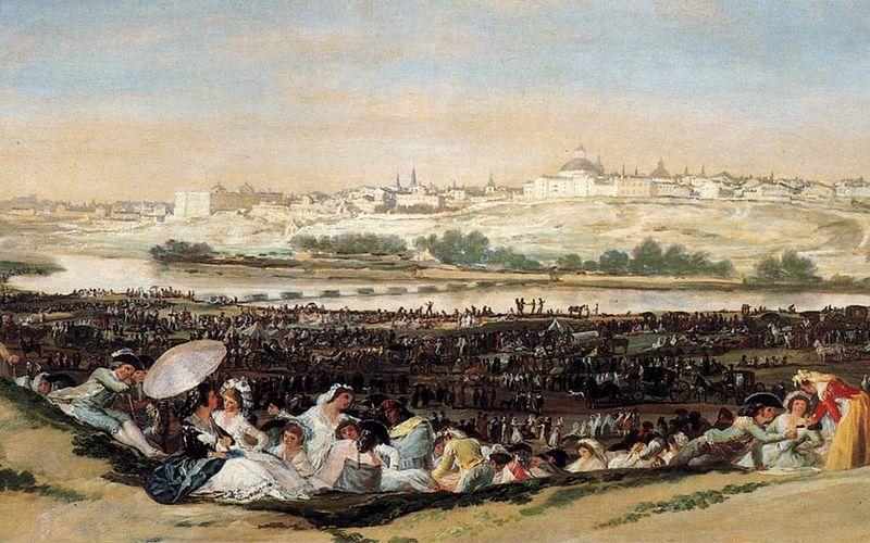 "File:Tableau ""La pradera de San Isidro"" de Goya.jpg - Wikimedia Commons"