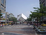 The Taichung Downtown Bus Plaza, one block from the Taichung Train Station