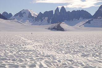 Taku Glacier - View across the Taku Glacier.