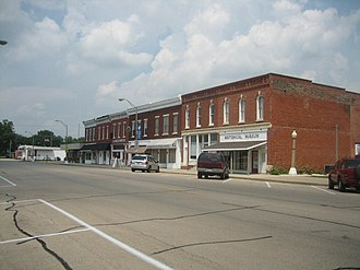 Main Street Historic District (Tampico, Illinois) - The 100 block of Main Street, Tampico, Illinois.