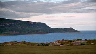 Tana, Norway - View of the Tanafjorden from the highway Fv 98