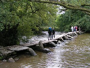 Clapper bridge - Image: Tarr Steps 01