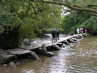 Clapper bridge - Image: Tarr Steps 01